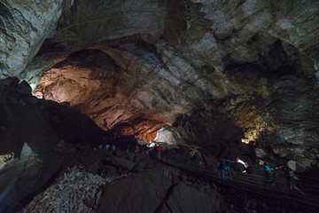 The way in New Athos underground cave in Georgia