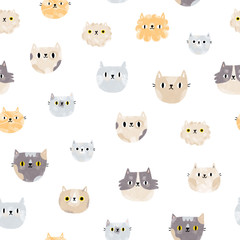 Cat faces pattern