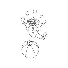 Clown juggler illustration