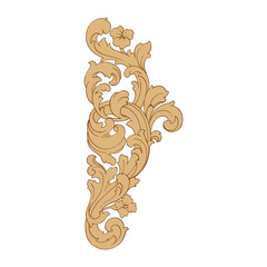 Retro baroque decorations element