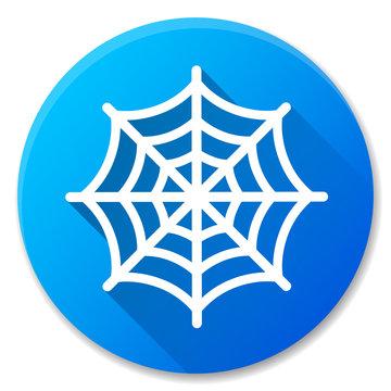 cobweb blue circle icon design