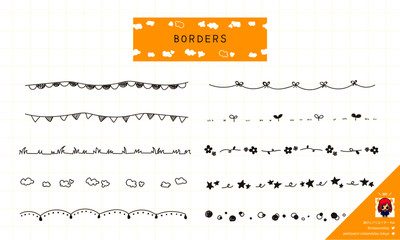 ポップな線の手描きイラスト