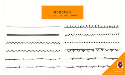 シンプルな線の手描きイラスト