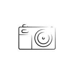 camera outine logo style icon. Element of photo icon for mobile concept and web apps. Outline camera icon can be used for web and mobile