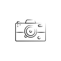 simple camera outine logo style icon. Element of photo icon for mobile concept and web apps. Outline simple camera icon can be used for web and mobile