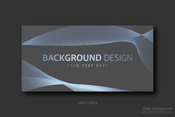 Background Design with blue gold smoke effect