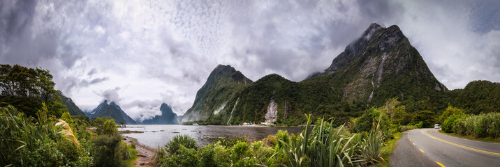 Adventure Travel at Milford Sound in New Zealand in Fiordland National Park