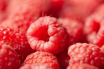 Fresh Raspberries Macro View
