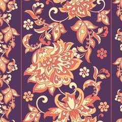 Ornate damask background. Vector vintage wallpaper
