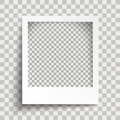 Sofortbild mit Schattierungen und einem transparenten Hintergrund