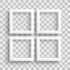 4 White Frame Shadows Transparent