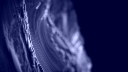 CG Fractal abstract background 3d shapes with depth of field.