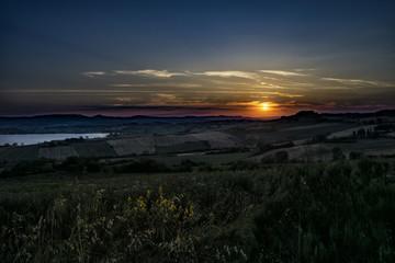 Abendfriede über der Toscana: Am Lago di Chiusi