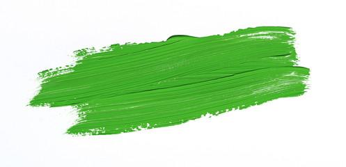 Green brush stroke isolated over white background Wall mural