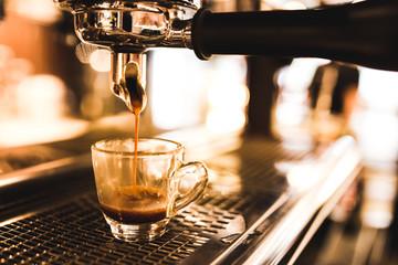 espresso from machine