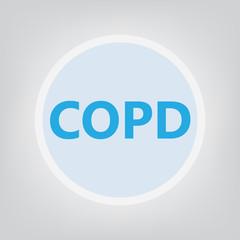 COPD (Chronic Obstructive Pulmonary Disease)- vector illustration