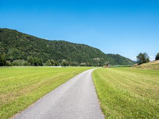idyllischer Donauradweg im Donautal