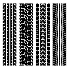 Black tire track set 1