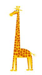 Funny illustration of a giraffe