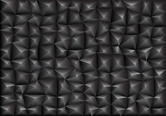 Abstract dark gray triangle polygon background texture vector illustration.