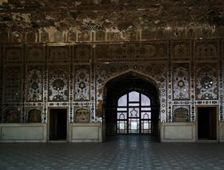 Sheesh Mahal Palace in Lahore fort in Pakistan