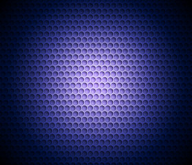 Blue abstract background with metal background. Grid of round cells. Background with 3D effect for backgrounds, wallpapers, covers and your design