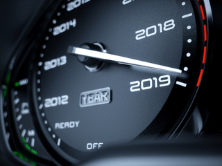 2019 year car speedometer