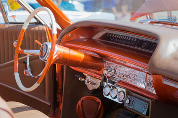 Orange car dashboard