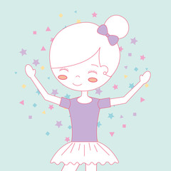 beautiful ballerina ballet cartoon character