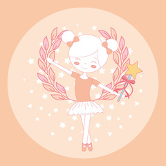 beautiful ballerina ballet with magic wand