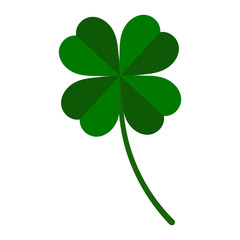 green leaf clover on a white background