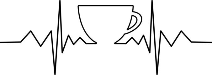 Kaffeetasse mit Herzschlag