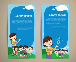 education teacher children banner