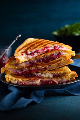 Grilled Cheese and Cranberry  Sandwiches
