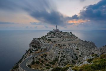 Formentor Lighthouse at sunrise, Majorca, Spain