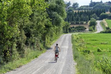 Auf dem Fahrrad durch die Toscana
