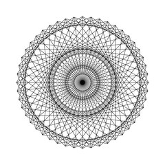 Geometrical figure from Sacred Geometry elements. Vector Illustration.