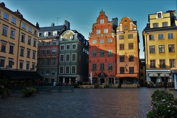 Old Town Square of Stockholm early in the morning