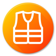 life jacket orange circle icon