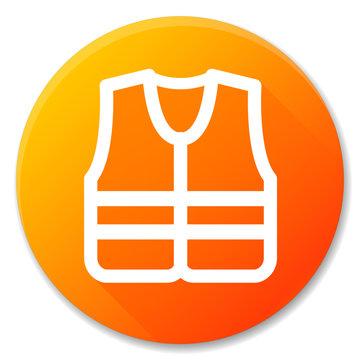 life jacket orange circle icon