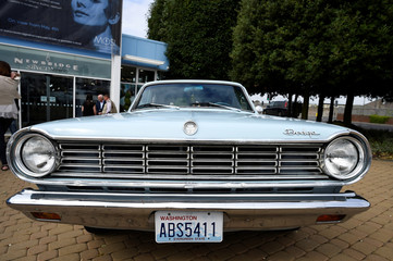 Kurt Cobain's last car is parked outside at the opening of 'Growing Up Kurt' exhibition featuring personal items of Nirvana frontman Kurt Cobain at the museum of Style Icons in Newbridge
