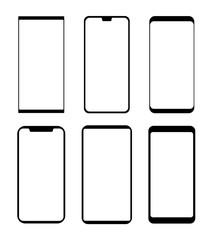 Smartphone icon silhouette vector