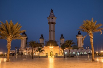 Grand Mosque of Touba at Night Wall mural