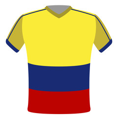 Flag t-shirt of Colombia