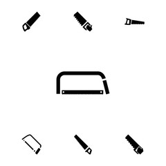 Collection of 7 hacksaw filled icons