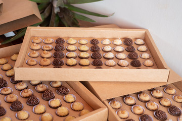 Brigadier and Brazilian sweets in a box