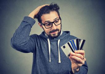Desperate man having loan problems