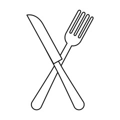 fork and knife cutleries vector illustration design
