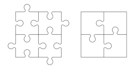 Set of puzzle pieces