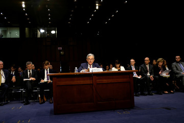 Federal Reserve Chairman Jerome Powell gives his semiannual testimony on the economy and monetary policy before the Senate Banking Committee in Washington